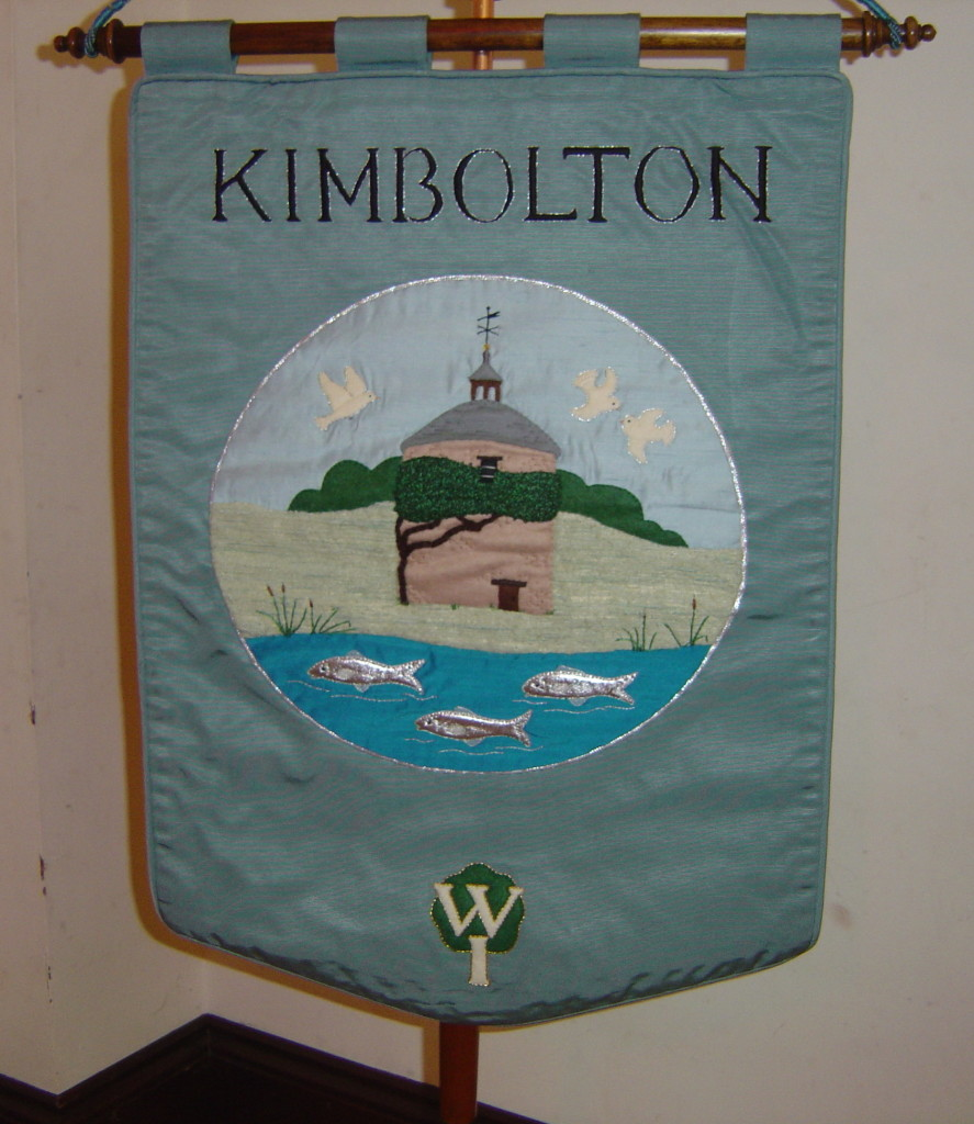 Kimbolton WI Standard made by Una Gould